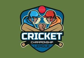 Cricket-Meisterschafts-Vektor-Illustration vektor