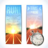 Stopwatch-banners vertikala vektor