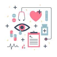 Gesundheitswesen-Ikonen-Vektor