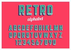 Retro Alphabet eingestellt vektor