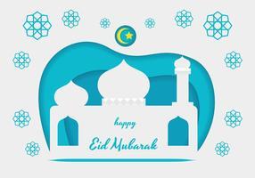 Eid Mubarak-Vektor-Illustration vektor