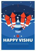 Glad Vishu Vector Design