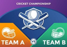 Cricket Meisterschaft Vektor