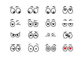Tecknade ögon vektor