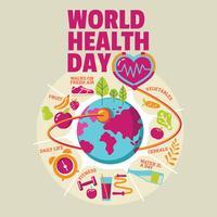 Weltgesundheitstagkonzept mit gesundem Lebensstil
