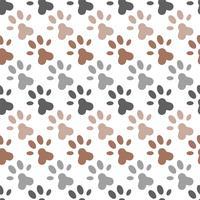 nahtloses Muster des Pfotenfußdrucks für Packpapier oder als Hintergrund