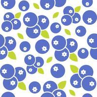 Blaubeernahtloses Muster für Gebrauch als Hintergrund oder Tapete