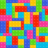 nahtloses Muster der Bausteine Spielzeug vektor