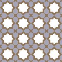 geometriskt sömlöst mönster islamisk stil