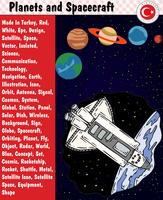 Planeten und Raumfahrzeug, ENV, Vektor