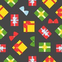 Present presentförpackning sömlöst mönster