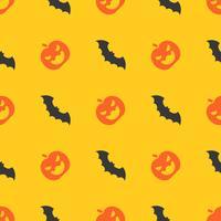 Halloween-nahtloses Muster, Schlägerfliegen, flaches Design mit Ausschnittsmaske