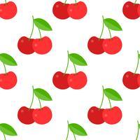 Körsbär sömlös mönster för användning som inslagspapper eller tapeter