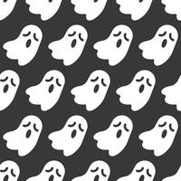 Geist, nahtloses Muster Halloweens, flaches Design mit Ausschnittsmaske