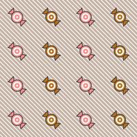 Candy eller toffy sömlöst mönster på diagonal bakgrund