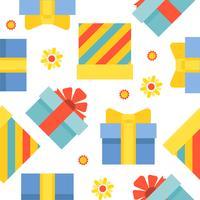 Nahtloses Muster der anwesenden Geschenkbox geeignet für Gebrauch als Packpapiergeschenk vektor