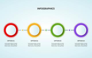 Infografik-Vorlage eines Schritt- oder Arbeitsablaufdiagramms, das für die Verwendung in der Zeitleiste geeignet ist