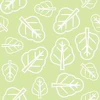 Kinesisk kale eller spenat lämnar konturer sömlösa mönster