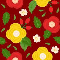 blommigt sömlöst mönster, platt design för användning som bakgrund