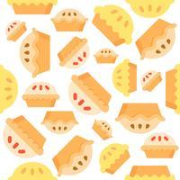 Pie Seamless mönster bakverk produkt platt design
