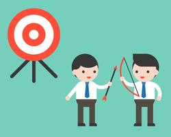 Zwei Co-Arbeiter-Unternehmerzusammenarbeit, zum des Ziels, Partnerschaftsgeschäftskonzept zu erreichen