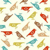 färgglada söta fågel sömlösa mönster, fall tema