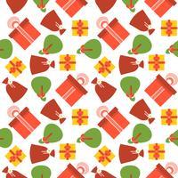 Nahtloses Muster der Geschenkbox, geeignet für Geschenkpapier, vektor