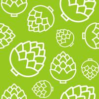 Kronärtskockor sömlösa mönster, kontur vegetabilisk tapeter vektor
