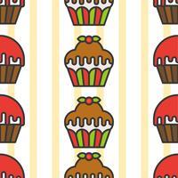 Nahtloses Muster des bunten netten kleinen Kuchens für Verpackungspapiergeschenk