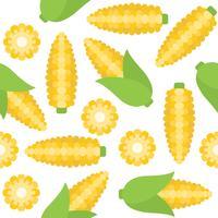 nahtloses Muster des Mais für Tapete oder Packpapier vektor