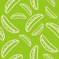 grönsaker sömlösa mönster, grön ärt pod skiss för tapeter och bakgrund