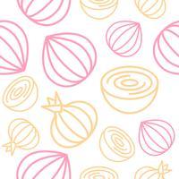 Zwiebel-nahtloser Musterentwurfs-Gemüsesatz