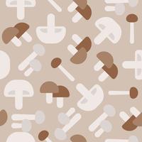 Nahtloses Muster des Pilzes, flaches Design