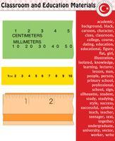 Linjal, Skolelärare, Lärare, Silhuett, Tecknadstecken, Pojke, Flicka, Man, Kvinna, Lärare, Skolmaterial, brevpapper - Eps, vektor