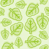 nahtloses Gemüsemuster, chinesischer Grünkohl oder Spinatumriss