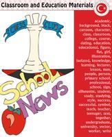 Skolelärare, lärare, silhuett, tecknadstecken, pojke, flicka, man, kvinnlig, lärare, skolmaterial, brevpapper - eps, vektor