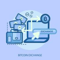 Bitcoin Exchange Konceptuell illustration Design