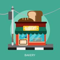Bäckerei konzeptionelle Illustration Design