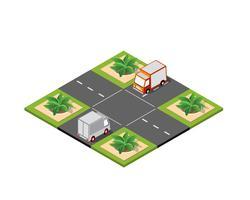 Kreuzung Straße isometrisch vektor