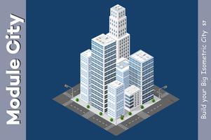 Urban isometrisk skyskrapa