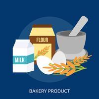 Bäckereiprodukt konzeptionelle Abbildung Design