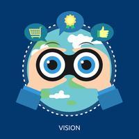 Vision konzeptionelle Abbildung Design vektor