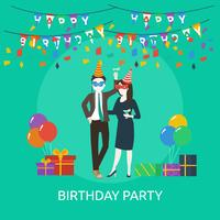 Födelsedagsfest Konceptuell illustration Design