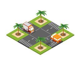 Isometrische Stadt der Straße 3D vektor