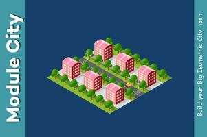 Isometrisk 3D landskapstopp