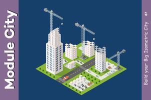 Modul isometrische Stadt der Häuser