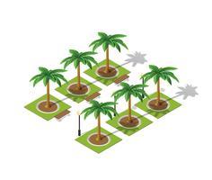 Parkera naturen med träd landskap vektor