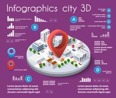 City isometrisk infographics