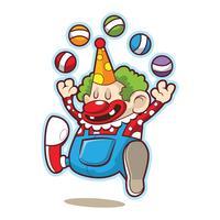 söt kul cirkus clown vektor
