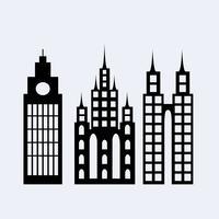 Eine Reihe von Design City-Elementen